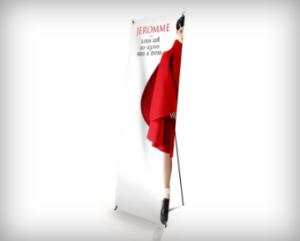 Banners publicitários - sistemas de exposição