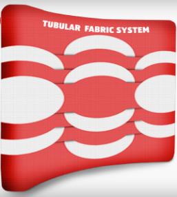 Tubular Fabric System - sistemas de exposição